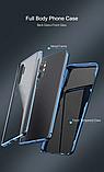 Магнитный металл чехол FULL GLASS 360° для Xiaomi Mi 10 + стекло на камеру /, фото 9