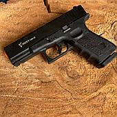 Пистолет стартовый KUZEY GN19 стартовый черный с доп. магазином