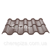 Металлочерепица Премиум плюс 8017  0,5 мм Voestalpine (Австрия)