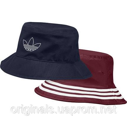 Панама Adidas Originals FM1356 двухсторонняя синяя и бордовая, фото 2