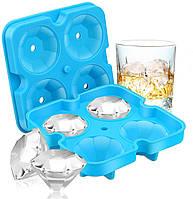 Форма для льда Бриллиант, Алмаз, Силиконовая прикольная форма  с крышкой, Емкости для льда