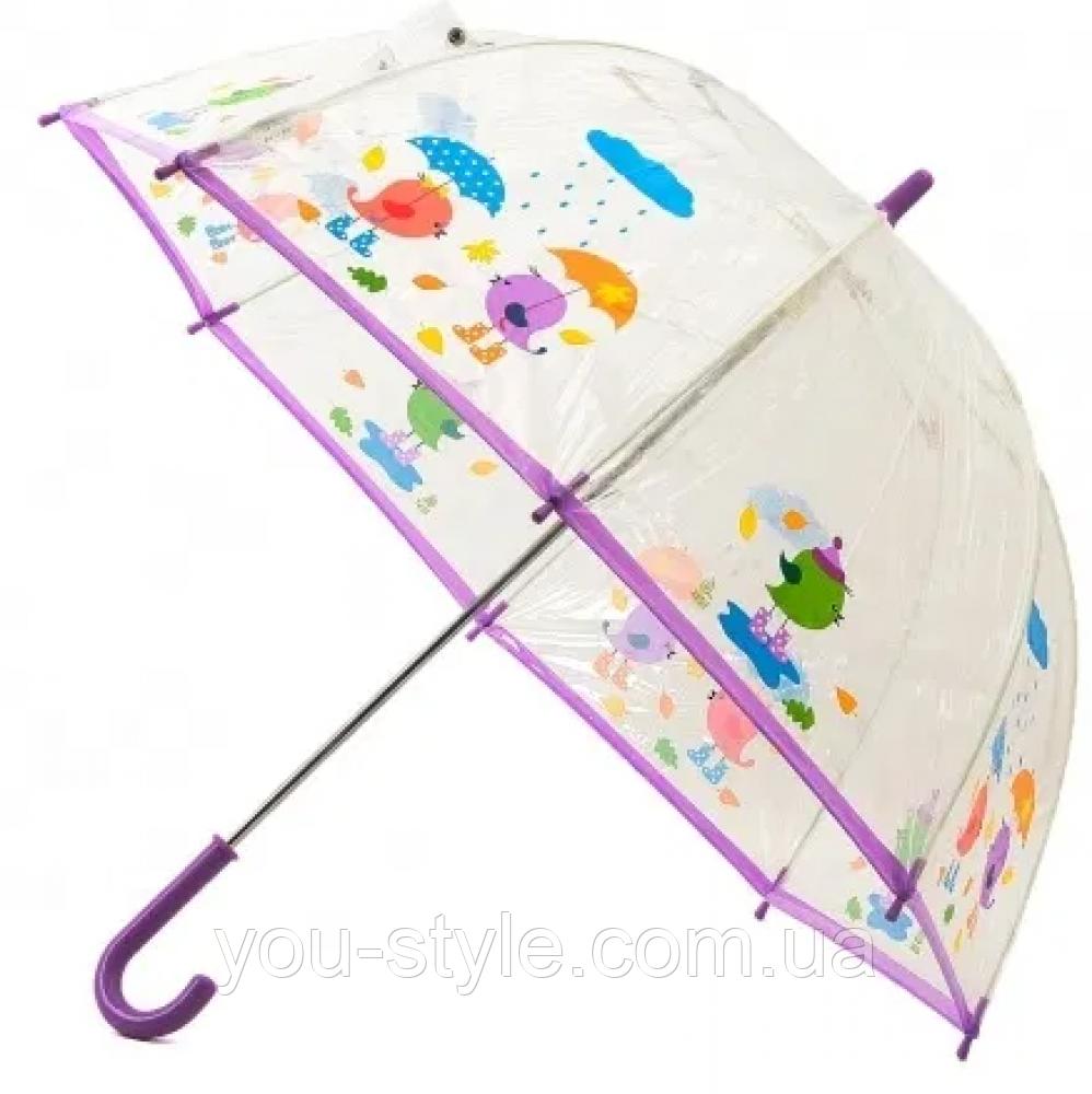 """Детский зонт Zest """"Птички"""" прозрачный"""