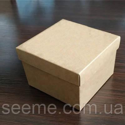 Коробка из крафт картона 120х120х90 мм