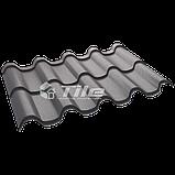Металлочерепица Премиум плюс 8019 0,5 мм Hight Build Polyester, фото 3