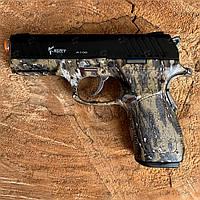 Пистолет стартовый KUZEY A100 стартовый CAMO с доп. магазином, фото 1