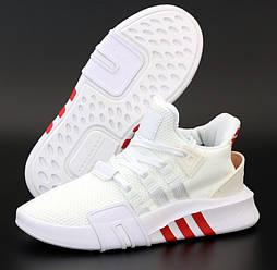 Женские кроссовки Adidas EQT Bask ADV W белые с красным летние в сетк. Живое фото. 36-40р. Живое фото. Реплика