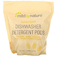Mild By Nature, Средство для мытья посуды в посудомоечной машине, с ароматом лимона, 60капсул, 1077г (2,38фунта, 36,48унции)