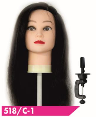"""Голова-манекен SPL """"брюнет"""" 50-55см + штатив 518/C-1"""