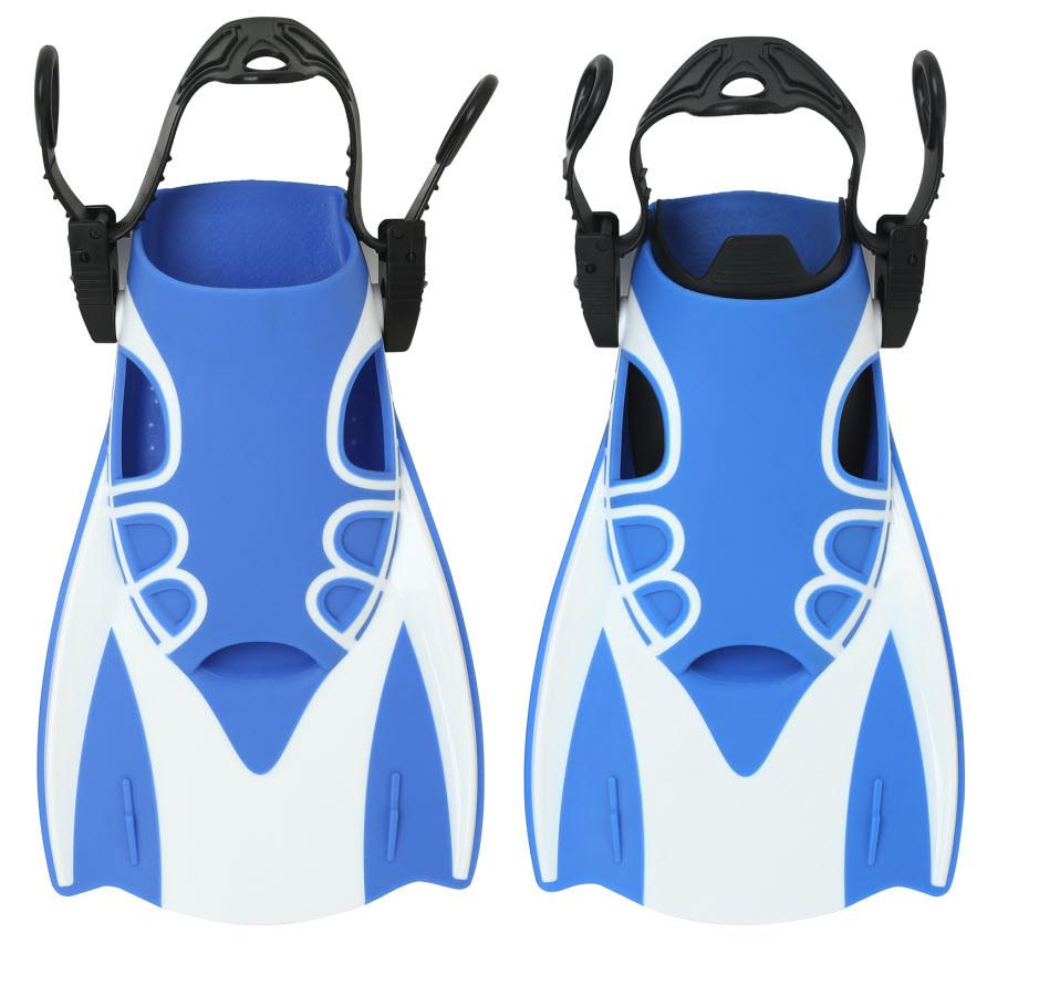 Спортивные ласты для быстрого плавания, ласты для бассейна с открытой пяткой детские и взрослые AquaSpeed