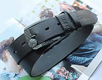 Мужской кожаный ремень Diesel black, фото 1