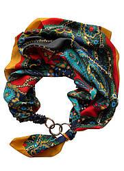 """Атласний хустку """"Етніка"""" , шарф-кольє, шарф-чокер, шийну хустку My Scarf"""
