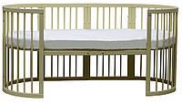 Кроватка-трансформер Сиди М 7 в 1 с цветным бортиком