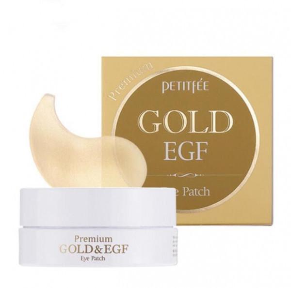 Купить Гидрогелевые патчи для глаз с золотом и EGF - PETITFEE Premium Gold & EGF Eye Patch - 60шт