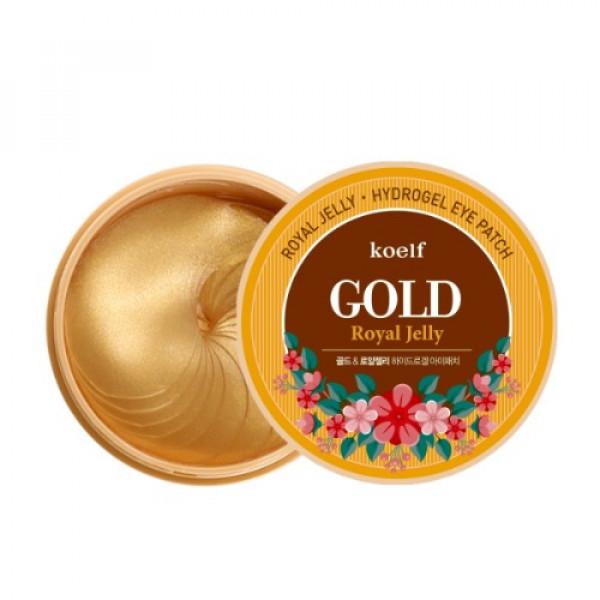Купить Гидрогелевые патчи для глаз с золотом KOELF Gold & Royal Jelly Eye Patch 60шт