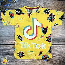 """Футболка """"Tiktok"""" для подростка Размеры: 8,9,10,11,12 лет (20503-1)"""