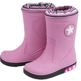Резиновые сапоги детские розовые с мигалками Lupilu (Италия) IAN 309230 разм.24/25