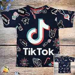 """Футболка """"Tiktok"""" для мальчика подростка Размеры: 8,9,10,11,12 лет (20503-2)"""