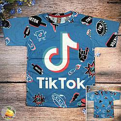"""Подростковая футболка """"Tiktok"""" Размеры: 8,9,10,11,12 лет (20503-3)"""