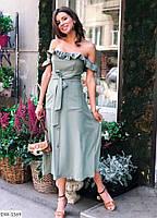 Платье женское (белый, светлый беж, фисташка, розовый)