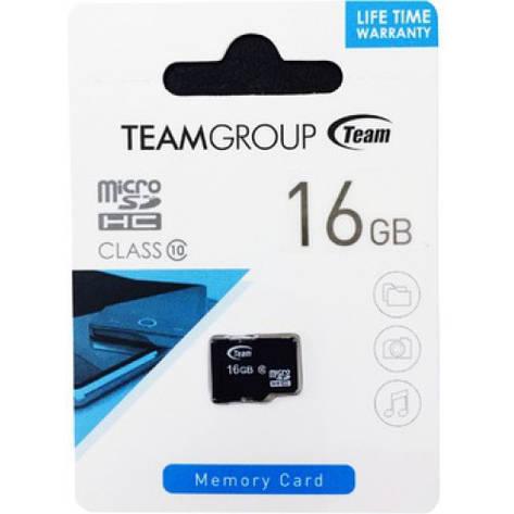 Карта памяти Team 16Gb, class 10,  microSDHC, фото 2