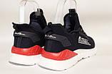 Чоловічі кросівки, мокасини,сітка,темно-синього кольору BAAS, на білій підошві., фото 3