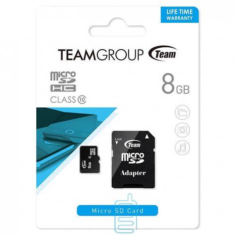 Карта памяти Team 8Gb, class 10, microSDHC, фото 2