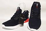 Чоловічі кросівки, мокасини,сітка,темно-синього кольору BAAS, на білій підошві., фото 5