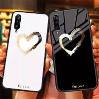 Стильний чехол For Love для телефону Huawei P Smart Plus на хуавей  Р смарт плюс бампер с серцем стеклянний