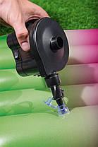 Автомобильный компрессор-насос 12V для накачивания надувных матрасов и бассейнов с насадками BestWay, фото 2