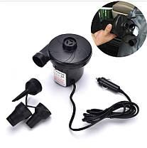 Автомобильный компрессор-насос 12V для накачивания надувных матрасов и бассейнов с насадками BestWay, фото 3