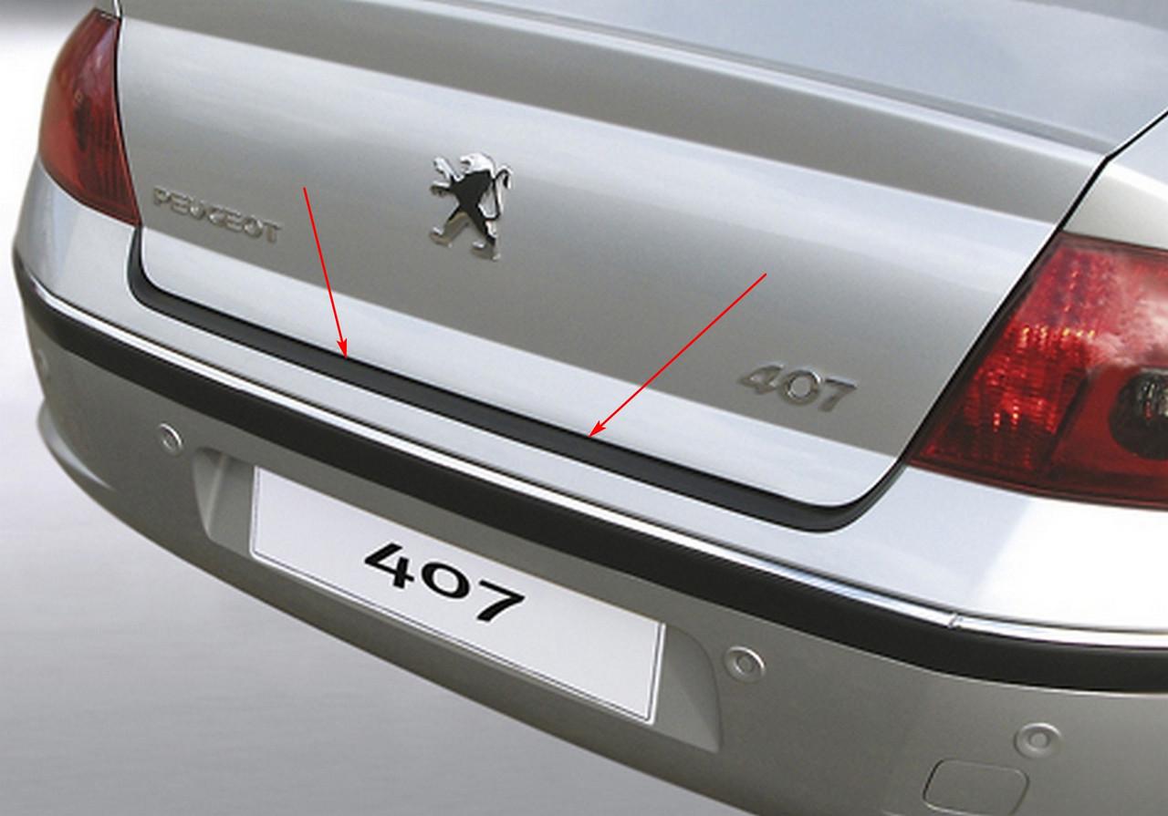 Peugeot 407 2004-2011 пластиковая защитная накладка заднего бампера, фото 4