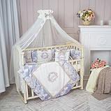 Детский постельный комплект Маленькая Соня Fiori 6 и 7 элементов, фото 2
