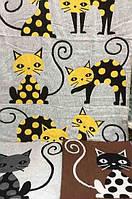 Банное хлопковое полотенце Кошки, фото 1