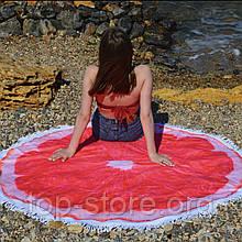 Пляжный коврик круглый. Сицилийский Апельсин. Размер 150*150 см.