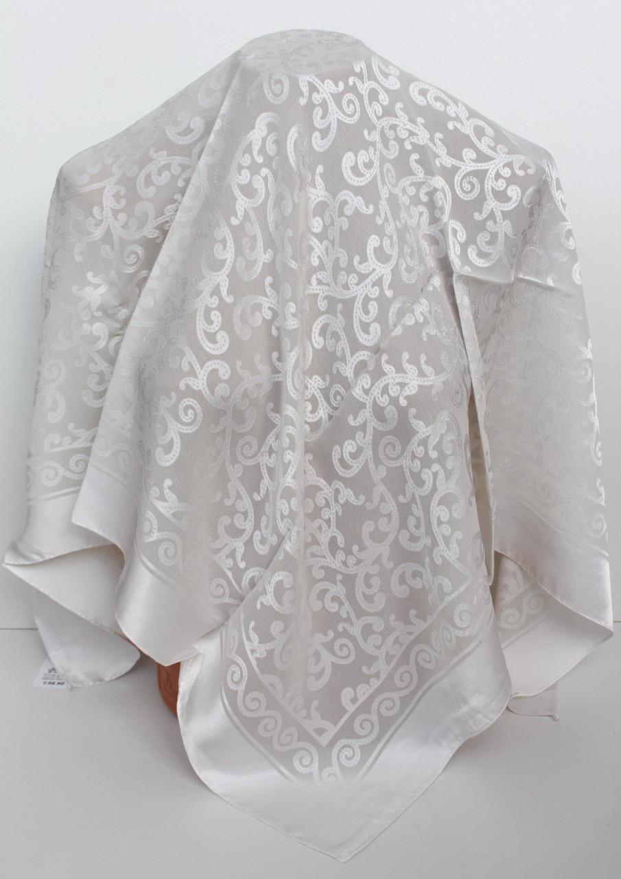 Платок айвори свадебный церковный ажурный 230027