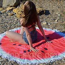 Пляжный коврик полотенце. Арбуз Размер 150*150 см.