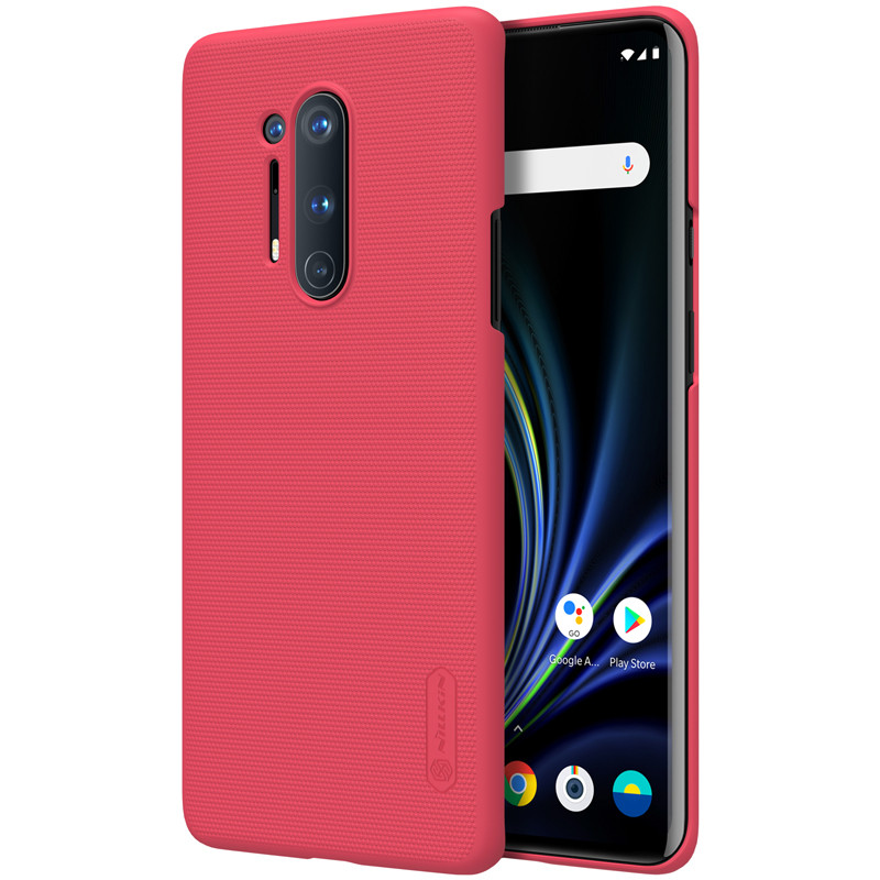 Nillkin Oneplus 8 Pro Super Frosted Shield Red Чехол Накладка Бампер
