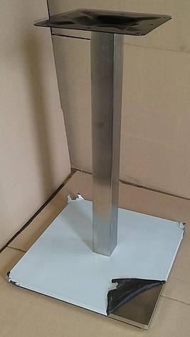 Опора для стола Кама нержавейка 500х500 мм., фото 2