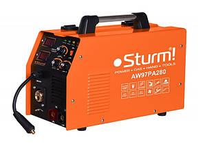 Инверторный полуавтомат Sturm AW97PA280 280 А, 170-250 В, MIG: 0,6 / 1,2 l MMA:1,6-4,0, 80%