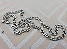 Шикарная серебряная цепочка. Цепь бисмарк из серебра., фото 6