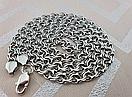 Шикарная серебряная цепочка. Цепь бисмарк из серебра., фото 5
