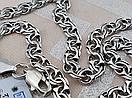 Шикарная серебряная цепочка. Цепь бисмарк из серебра., фото 2