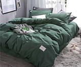 """Комплект постельного белья ТМ """"Ловец снов"""", однотонный Изумруд, фото 2"""