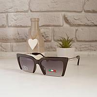Очки солнцезащитные женские необычные +подарок часы +чехол очки женские с поляризацией