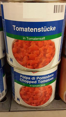 Помидоры кусочками в томатном соке, 2500 гр