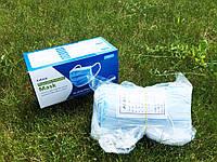 Маска медицинская для лица Спецмедпошив одноразовая трехслойная защитная голубая, упаковка