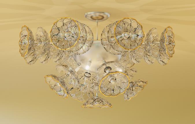 Потолочная чешская хрустальная люстра, фото 2