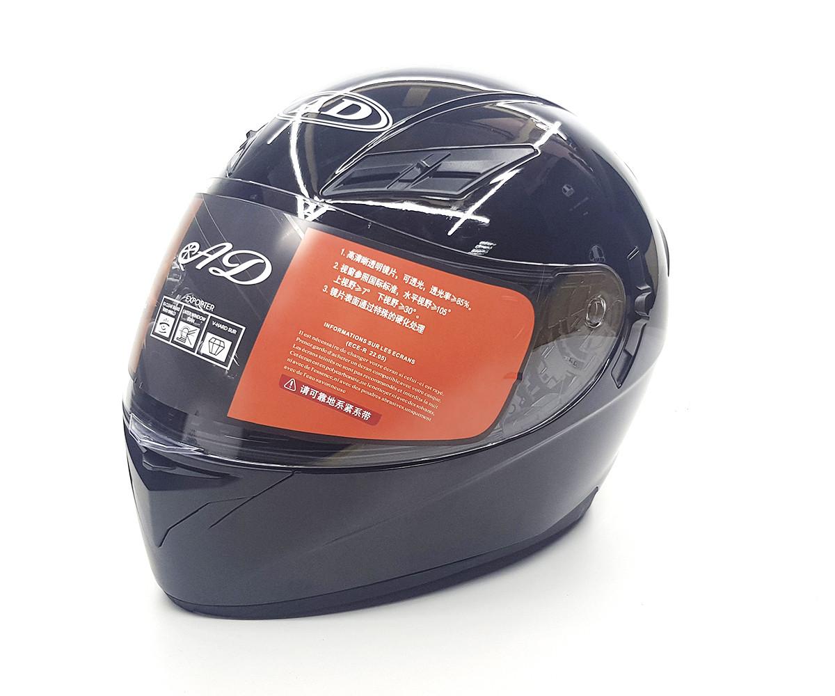 Мотошлем ANDA Helmets Black с подсветкой 60-61cm