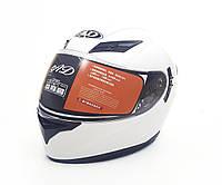 Мотошлем ANDA Helmets White с подсветкой 60-61cm
