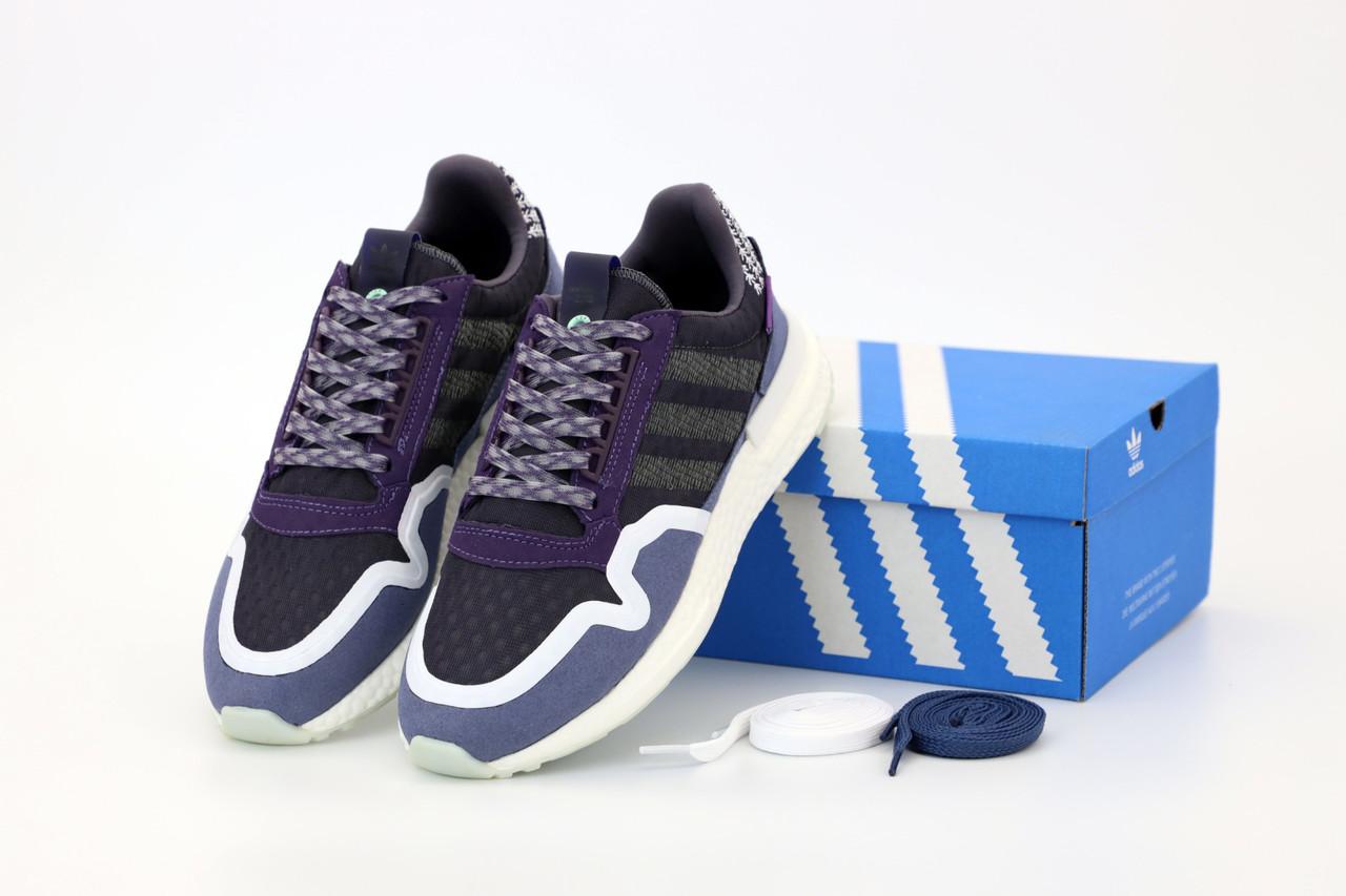 Мужские кроссовки Adidas ZX-500 OG Commonwealth Navy (Адидас Зед Икс синего цвета)